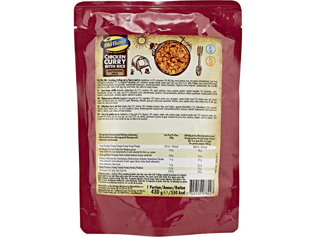 Bla Band Outdoor Meal 430g Chicken Curry with Rice